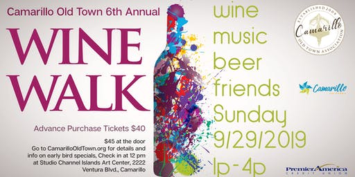 6th Annual Camarillo Old Town WINE WALK