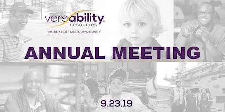VersAbility Resources' Annual Meeting tickets