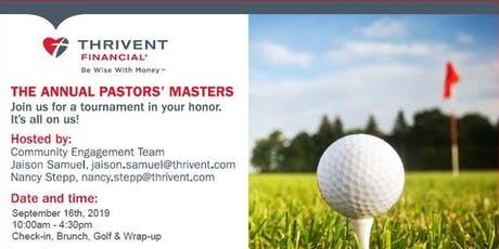 Pastors' Masters - A Pastors Appreciation Golf Event tickets
