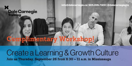 Creating a Learning and Growth Culture Workshop tickets