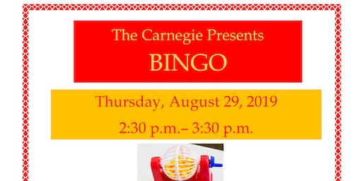 Bingo at the Carnegie!