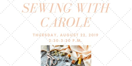 Sewing with Carole tickets