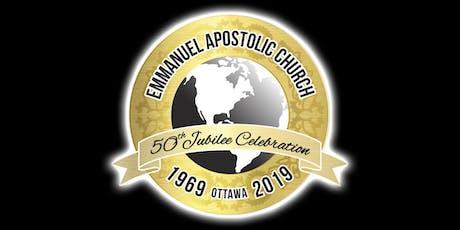 Emmanuel Apostolic Church 50th Jubilee Anniversary billets