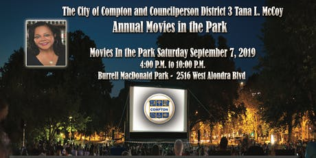 City Of Compton Movies In The Park tickets