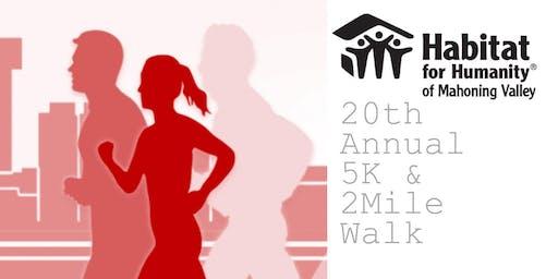 20th Annual 5K & 2-Mile Walk
