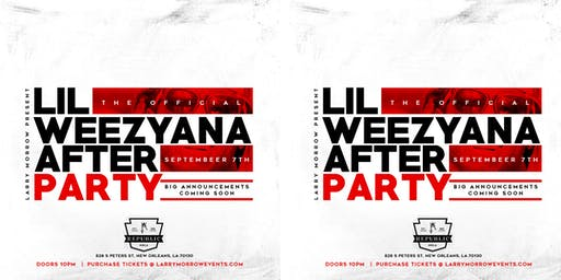 THE OFFICIAL LIL WEEZYANA FEST AFTER PARTY