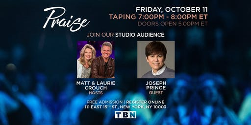 NY - Joseph Prince with Matt & Laurie Crouch