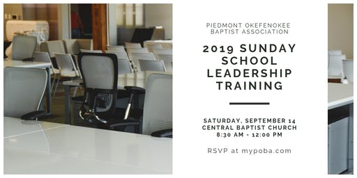 2019 Sunday School Leadership Training