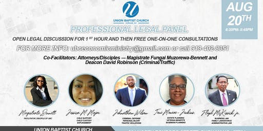 PROFESSIONAL LEGAL PANEL WITH FREE ONE-ON-ONE CONSULTATIONS