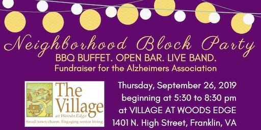 Neighborhood Block Party 2019 - ALZ fundraiser