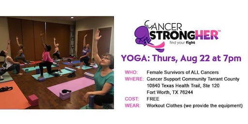 Cancer StrongHER Free Yoga Class - August 2019
