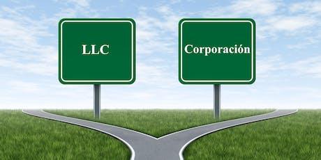 ¿LLC o Corporación? tickets
