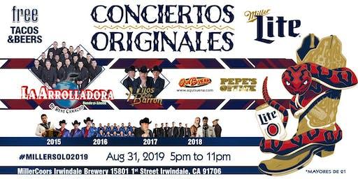 Conciertos Originales con La Arrolladora y Hijos de Barrón (Solo 21+)