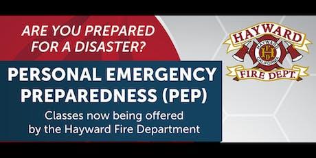 Personal Emergency Preparedness (PEP) Class tickets