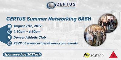 CERTUS Summer Networking BASH