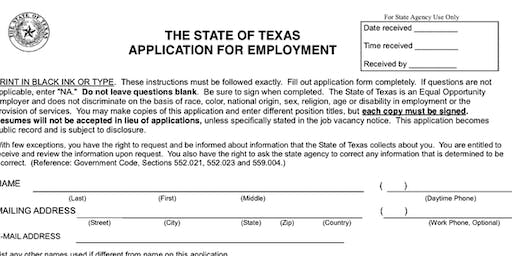 Tips for Filling out the State Application