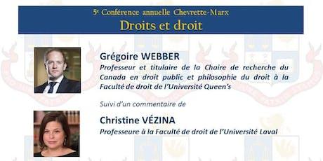 5e conférence annuelle Chevrette-Marx: Droits et droit tickets