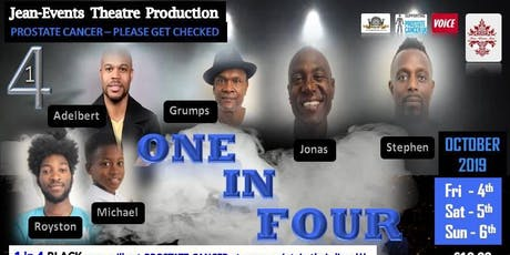 1 in 4 – Jean-Events ***  4th, 5th, 6th October 2019 tickets