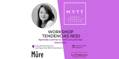 MYTT - WORKSHOP TENDENCIAS 19/20 entradas