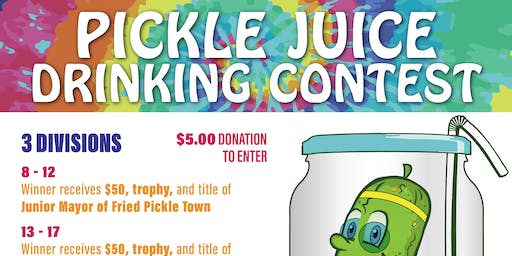 Pickle Juice Drinking Contest