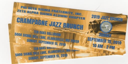 Zeta Alpha Sigma Chapter's Champagne Jazz Brunch