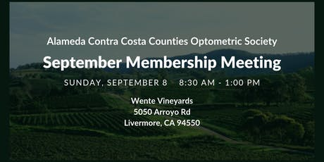ACCCOS September Membership Meeting tickets
