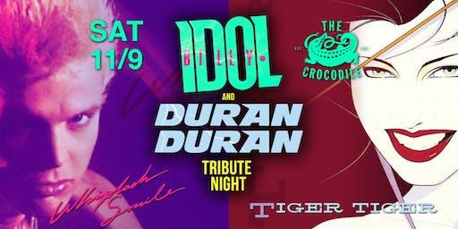 Billy Idol + Duran Duran Tribute Night w/ Tiger Tiger & Whiplash Smile