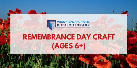 Remembrance Day Craft (ages 6+) tickets