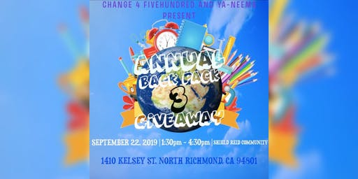 Change 4 Fivehundred's 3rd Annual Backpack Giveaway
