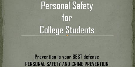 Personal Safety Workshop for Women/College Students tickets