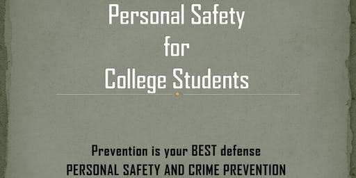 Personal Safety Workshop for Women/College Students