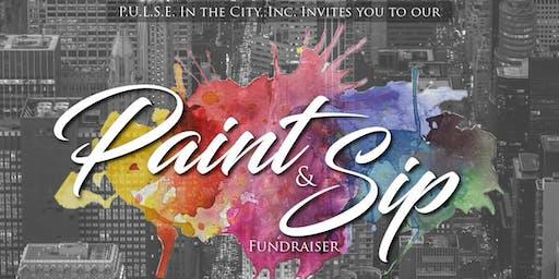 """P.U.L.S.E. in the City, Inc. Invites You to Our """"Paint & Sip"""" Fundraiser"""