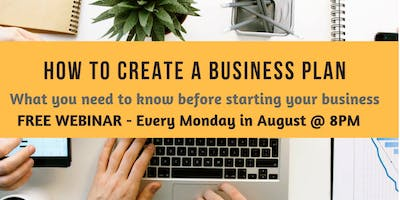 CREATING A BUSINESS PLAN - FREE WEBINAR