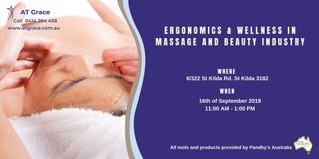 Ergonomics & Wellness in Massage and Beauty industry. tickets