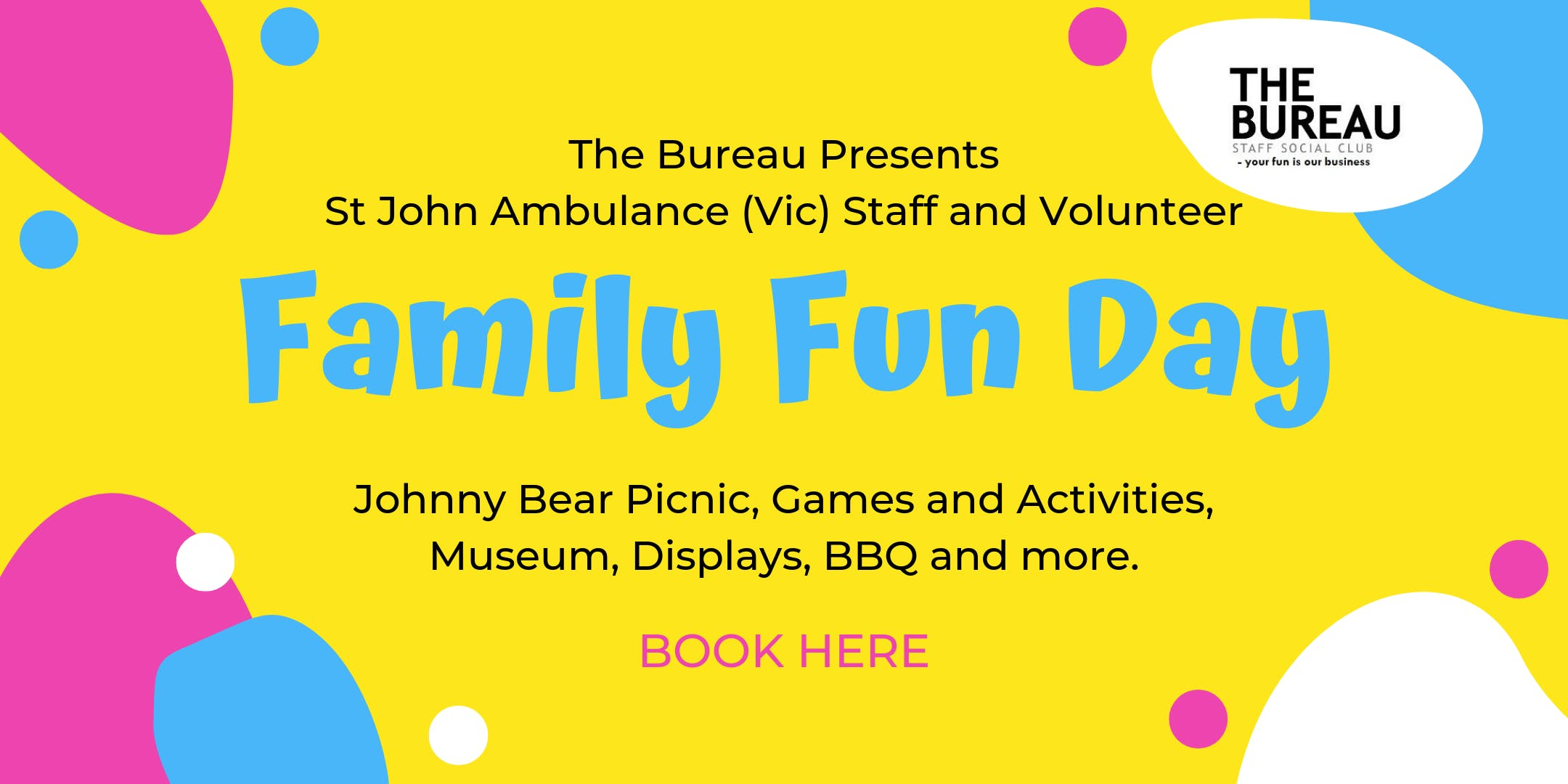 Staff and Volunteer FAMILY FUN DAY