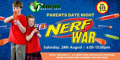 Parents Date Night - Nerf Wars @ Oxenford