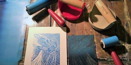 Linocut Printing Workshop for All