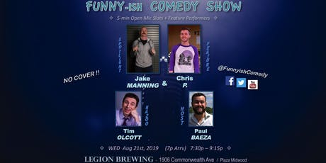 Funny-ish Comedy: Aug OpenMic+Showcase (NO COVER) tickets