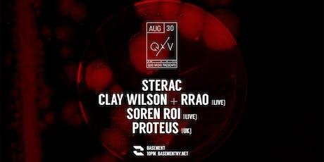 Quo Vadis: STERAC / Clay Wilson + rrao [Live] / Soren Roi [Live] / Proteus tickets