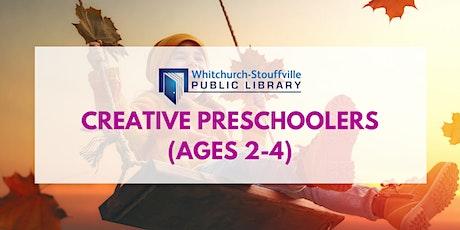 Creative Preschoolers (ages 2-4) tickets