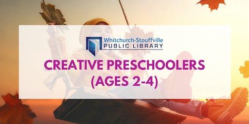 Creative Preschoolers (ages 2-4)