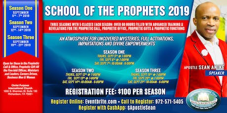 SCHOOL OF THE PROPHETS 2019 tickets