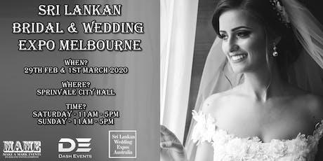 Sri Lankan Bridal & Wedding Expo Melbourne - March 2020 tickets