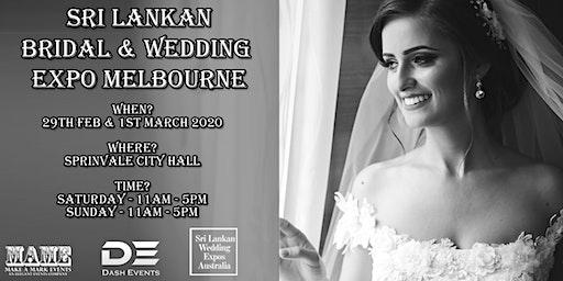 Sri Lankan Bridal & Wedding Expo Melbourne - March 2020