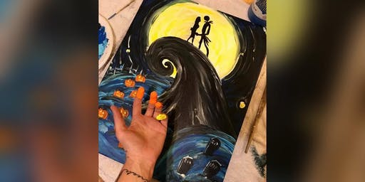 SOLD OUT 2 for 1 Canvas: Halloween Finger Paint! Pasadena, Greene Turtle with Artist Katie Detrich!