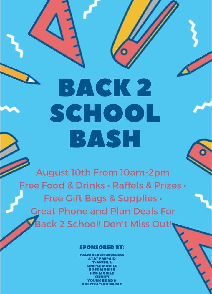 Back To School Bash Tickets, Sat, Aug 10, 2019 at 10:00 AM | Eventbrite
