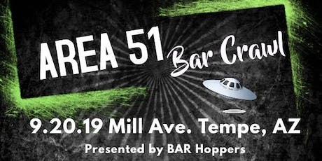 Area 51 Bar Crawl - Tempe, AZ - Mill Avenue - Bar Hoppers tickets