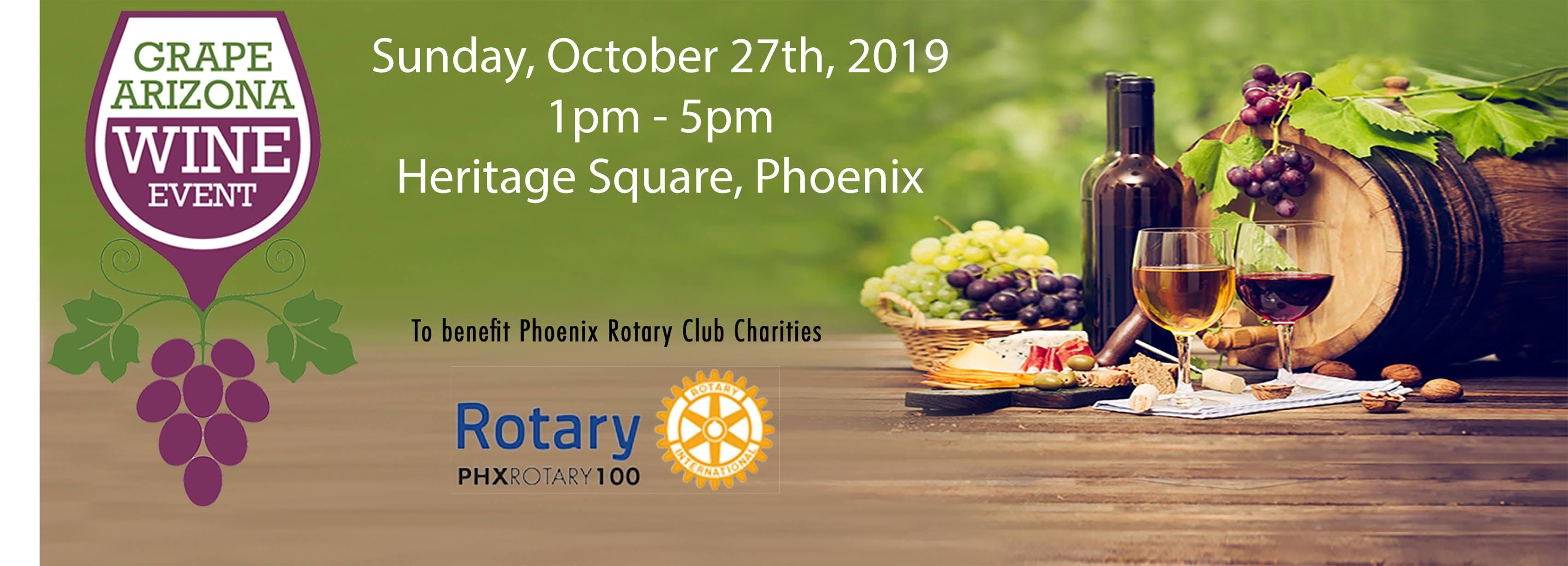 Grape Arizona Wine Event |Fall 2019 |(Charity) Wine, Beer, & Food Festival