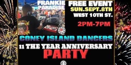 Coney Island Dancers 11th Year Anniversary Frankie Paradise tickets