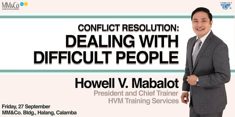 Conflict Resolution: Dealing with Difficult People tickets